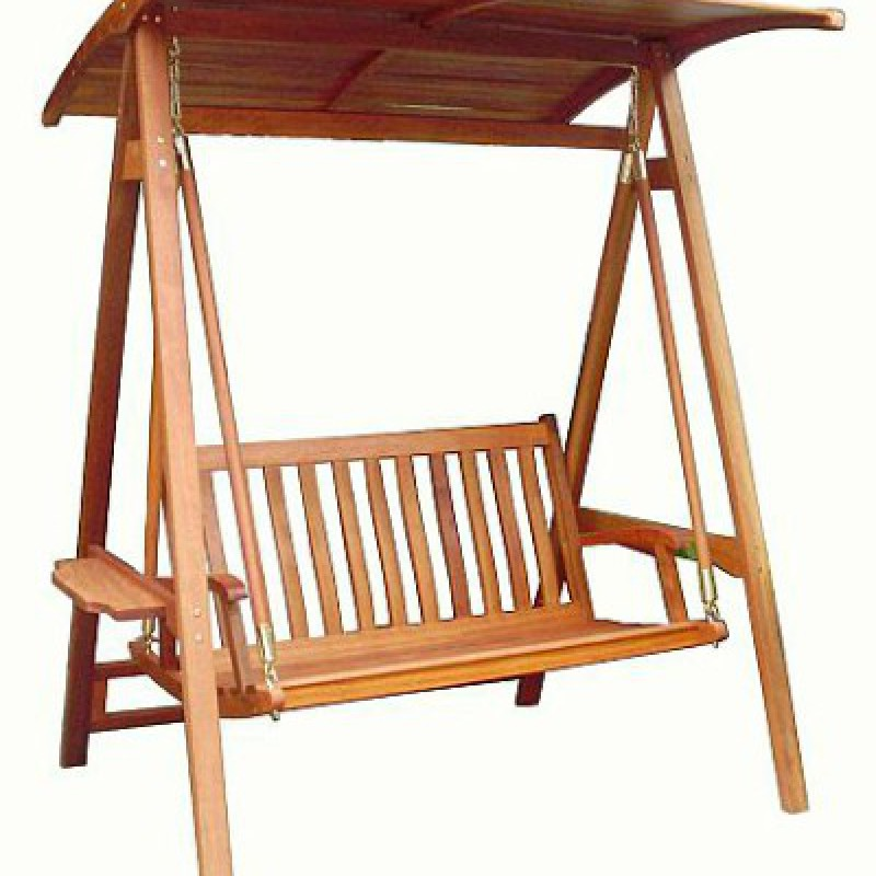 Ghế xích đu bằng gỗ ngoài trời